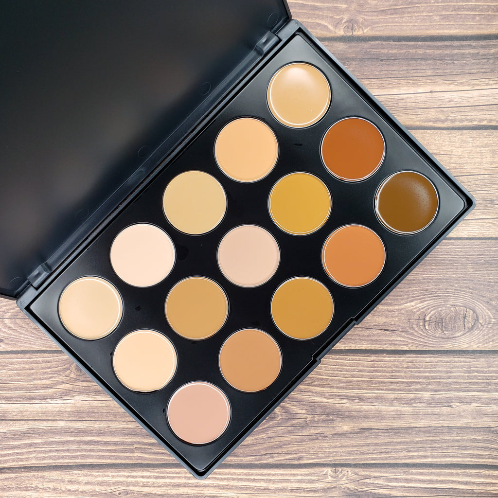 15 Color Creme Foundation/Contour Palette FND02