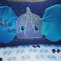 Baby birth announcement pillow