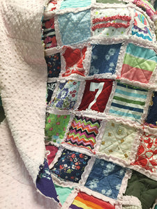 Add Minky backing to your rag quilt