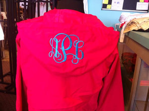 Add monogram to hood