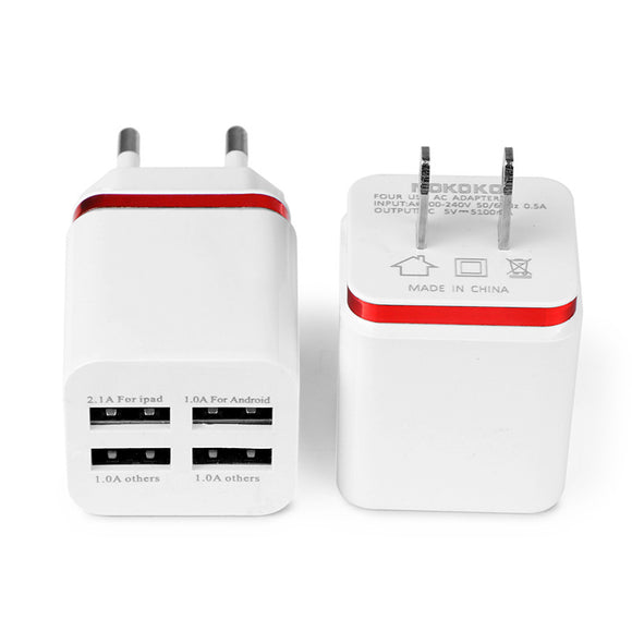 Powstro - Universal 4 Ports USB Wall Charger
