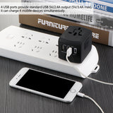 FORNORM - International Travel Adapter - All-in-one Universal Power Adapter