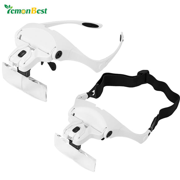 Lemonbest - 2-LED Visor Magnifier Glasses