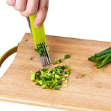 Herb Scissors - 5 Blades Stainless Steel with Clean Comb Cover