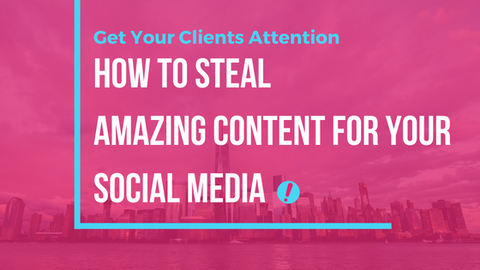 how to steal great content for social media