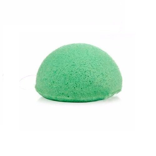 Green Tea Clay Half-Ball Facial Konjac Sponge