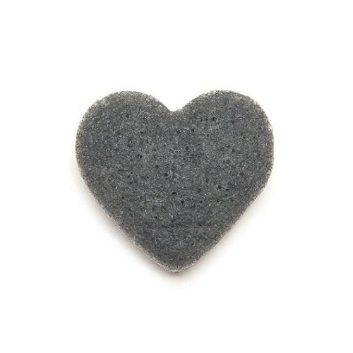 Bamboo Charcoal Heart-Shaped Facial Konjac Sponge