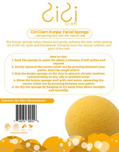 Load image into Gallery viewer, Turmeric Half-Ball Facial Konjac Sponge