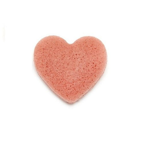 Pink Clay Heart-Shaped Facial Konjac Sponge