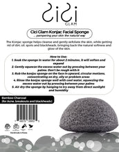 Load image into Gallery viewer, Bamboo Charcoal Half-Ball Facial Konjac Sponge