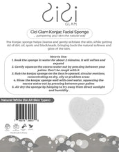 Load image into Gallery viewer, Natural White Heart-Shaped Facial Konjac Sponge