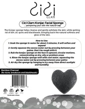 Load image into Gallery viewer, Bamboo Charcoal Heart-Shaped Facial Konjac Sponge