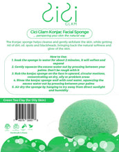 Load image into Gallery viewer, Green Tea Clay Half-Ball Facial Konjac Sponge