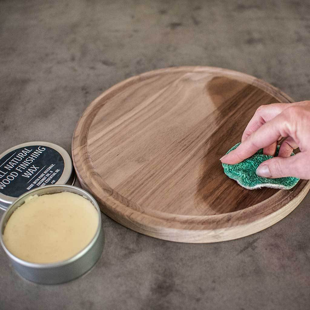 cleaning a cutting board that has end grain and juice groove