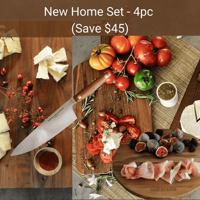Virginia Boys Kitchens Save $45 - 4pc Bundle - New Home Set - Extra Large board + Chef Knife + Cheese Board + Pizza Board