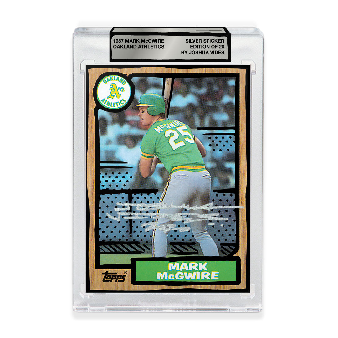 1987 Mark McGwire - Silver Sticker