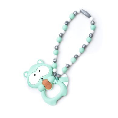 Nummy Beads Mint Raccoon Baby Carrier Teether Toy