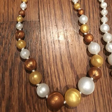 Gold & Copper Pearl Silicone Teething Necklace