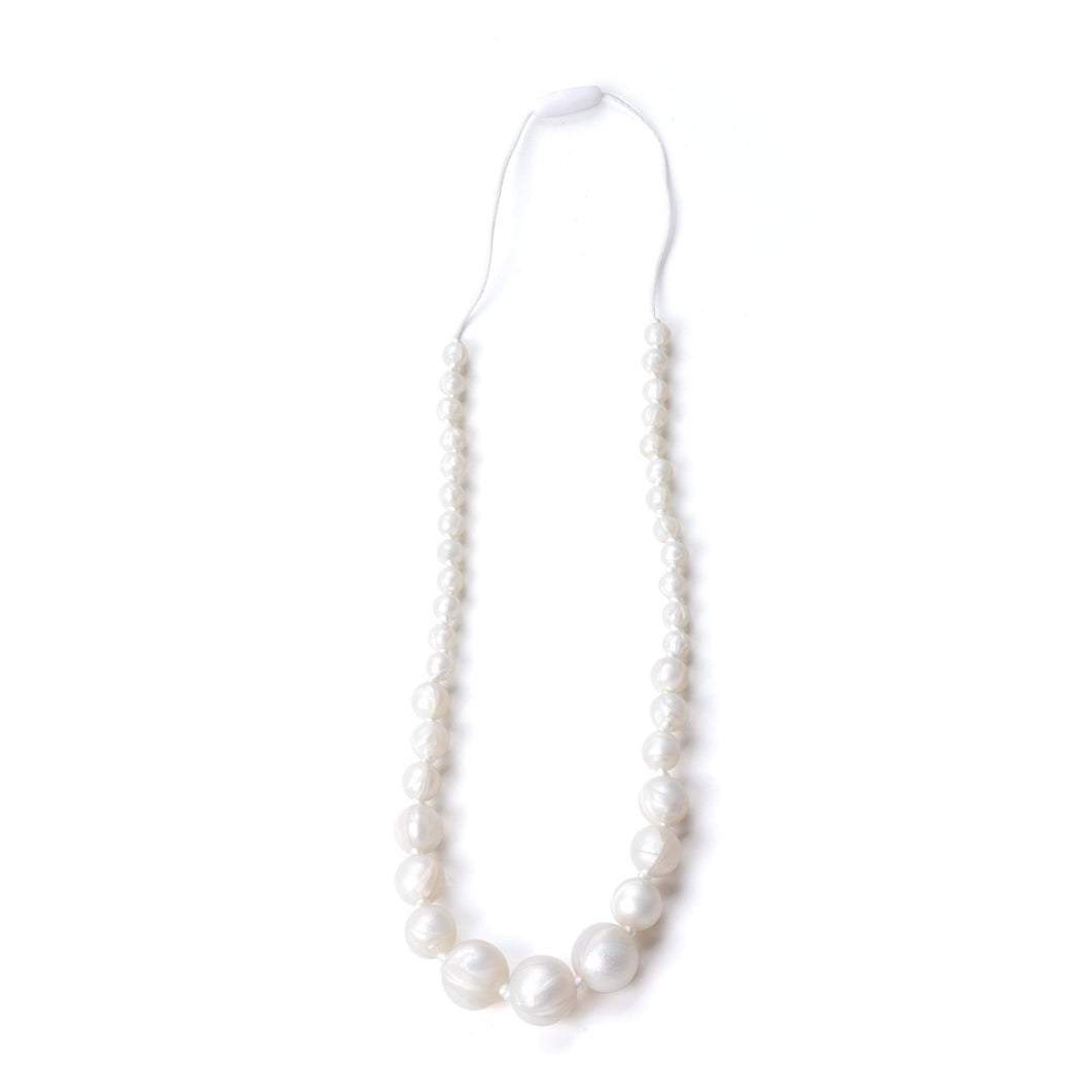Nummy Beads Silicone White Pearl Silicone Teething Necklace