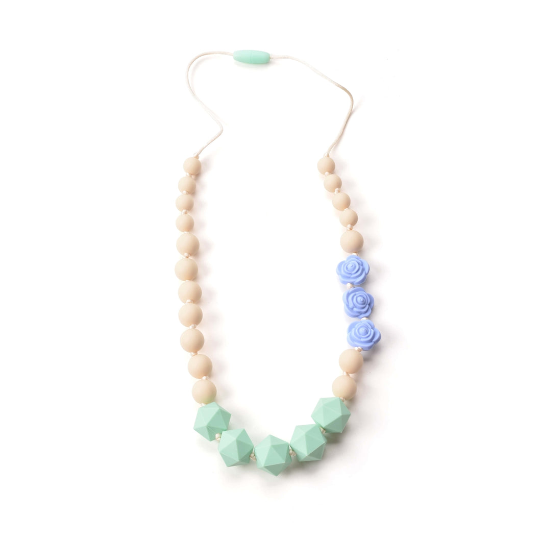 Periwinkle Rose Silicone Teething Necklace