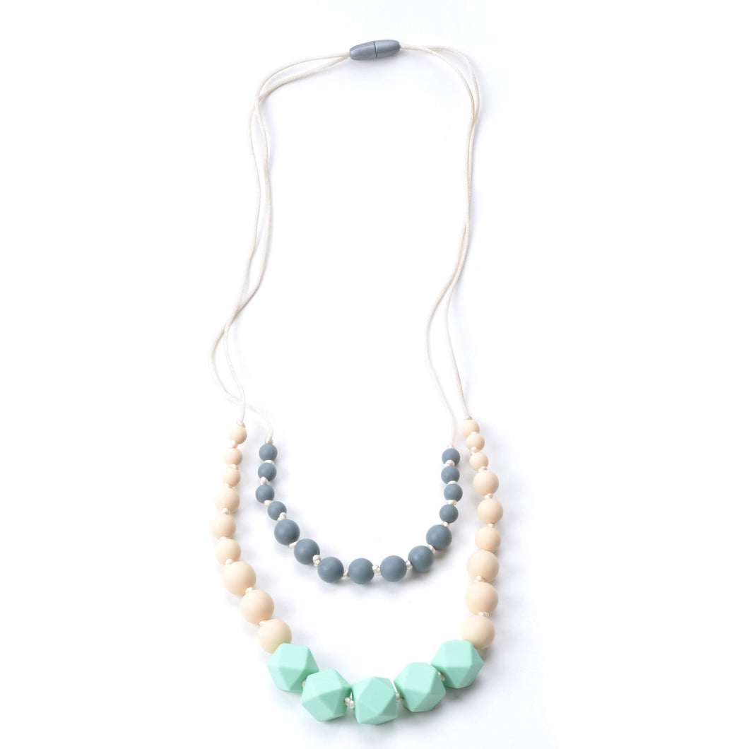 Two Strand Mint Silicone Teething Necklace