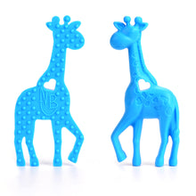 Blue Giraffe Baby Carrier Teether Toy