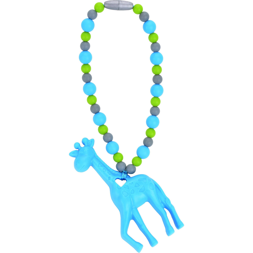 Nummy Beads Blue Giraffe Baby Carrier Teether Toy