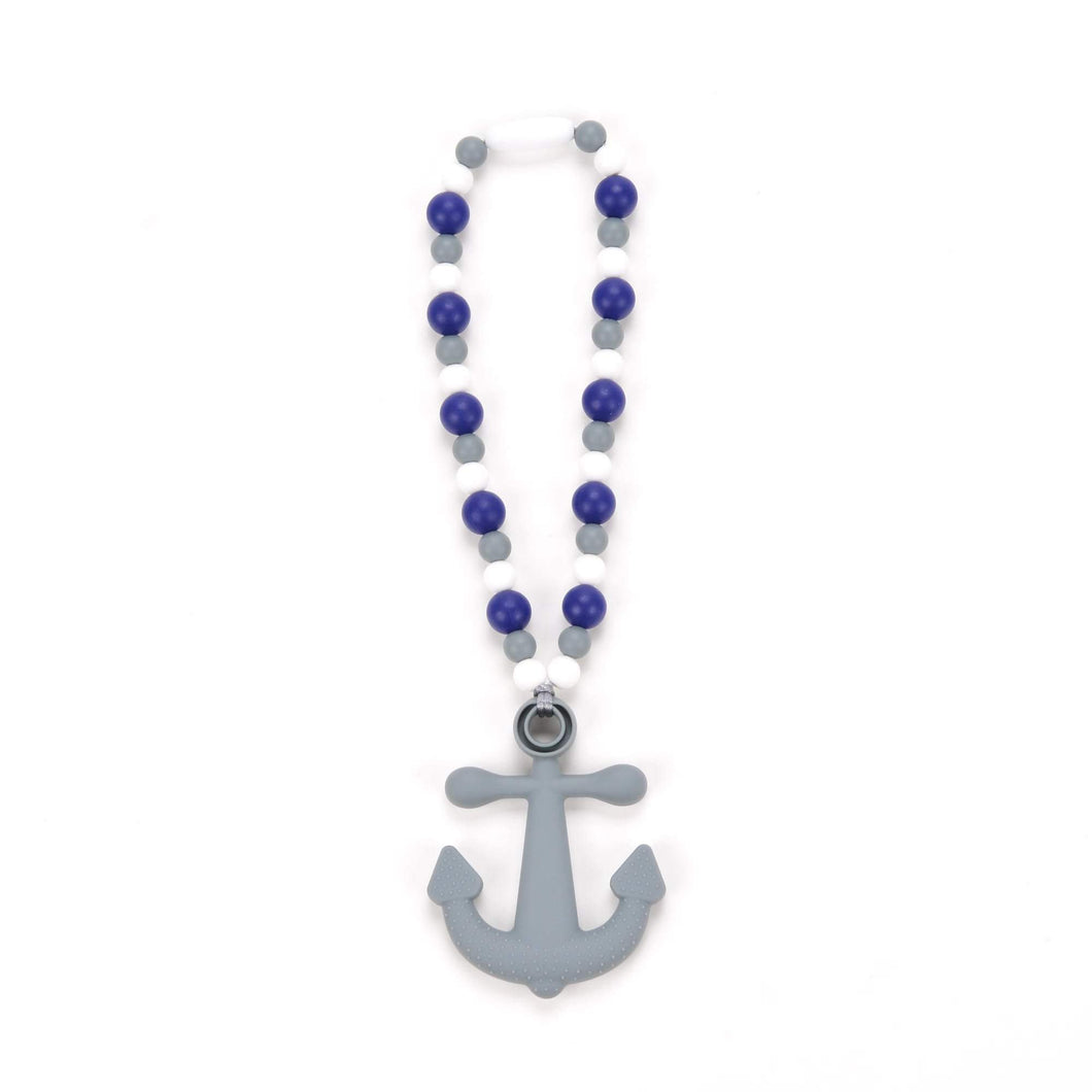 Nummy Beads Anchor with Navy Beads Baby Carrier Teether Toy