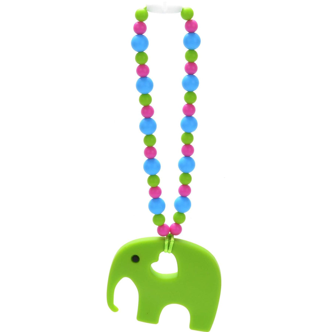 Nummy Beads Green Elephant Baby Carrier Teether Toy