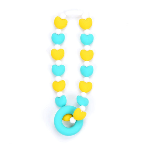 Nummy Beads Turquoise Hearts Baby Carrier Teether Toy