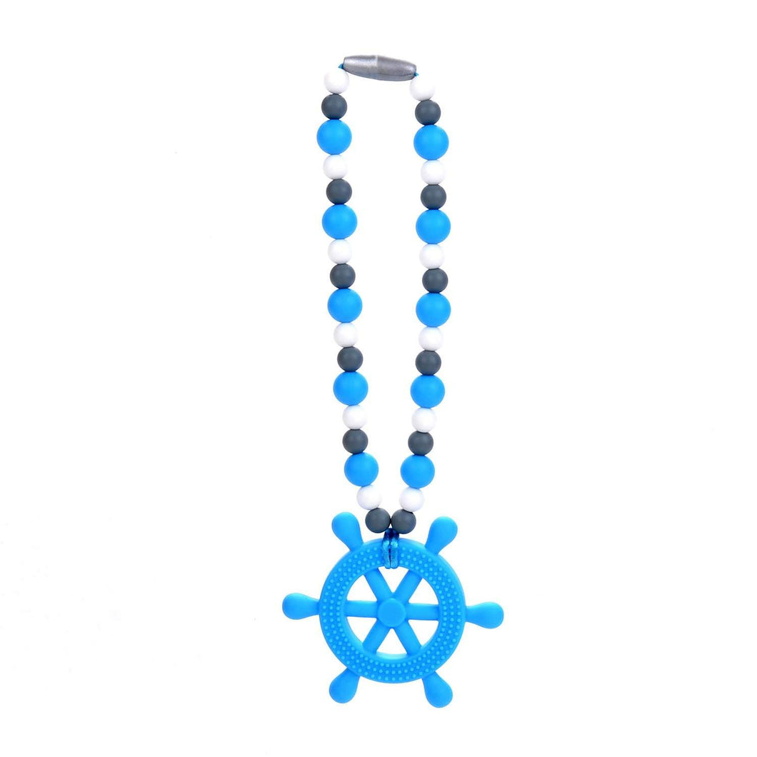 Nummy Beads Blue Helm (Ship's Wheel) Baby Carrier Teether Toy
