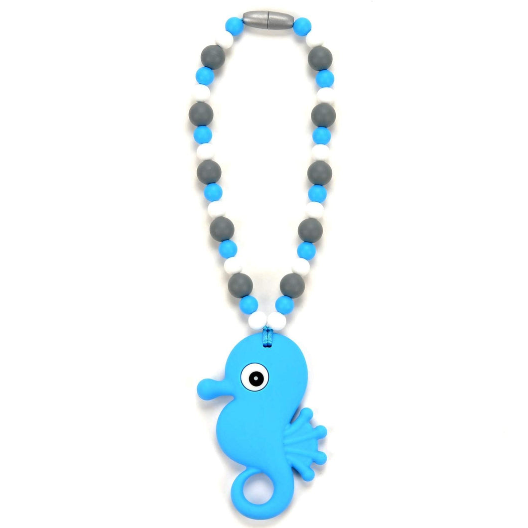 Nummy Beads Blue Seahorse Baby Carrier Teether Toy