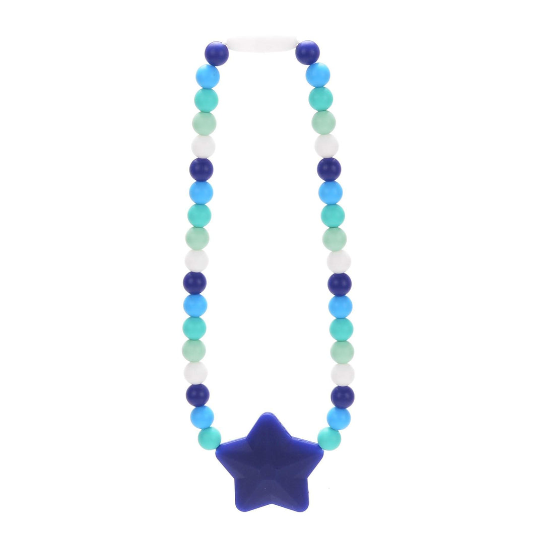 Nummy Beads Blue Star Baby Carrier Teether Toy