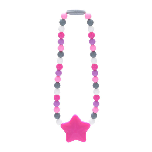 Nummy Beads Pink Star Baby Carrier Teether Toy