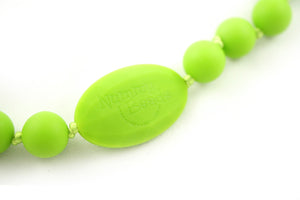 Jaden Silicone Teething Necklace - Limeade (Green)