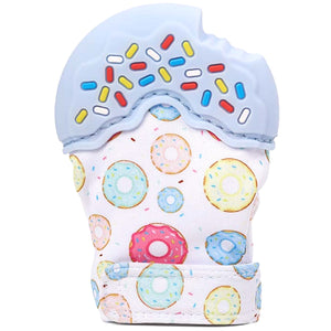 Nummy Mitts Blue Donut Teething Mittens