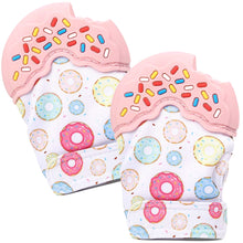 Nummy Mitts Pink Donut Teething Mittens