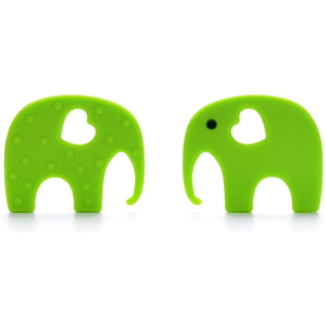 Green Elephant Baby Carrier Teether Toy