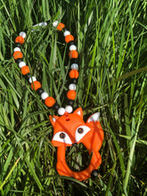 Orange Fox Baby Carrier Silicone Teether Toy
