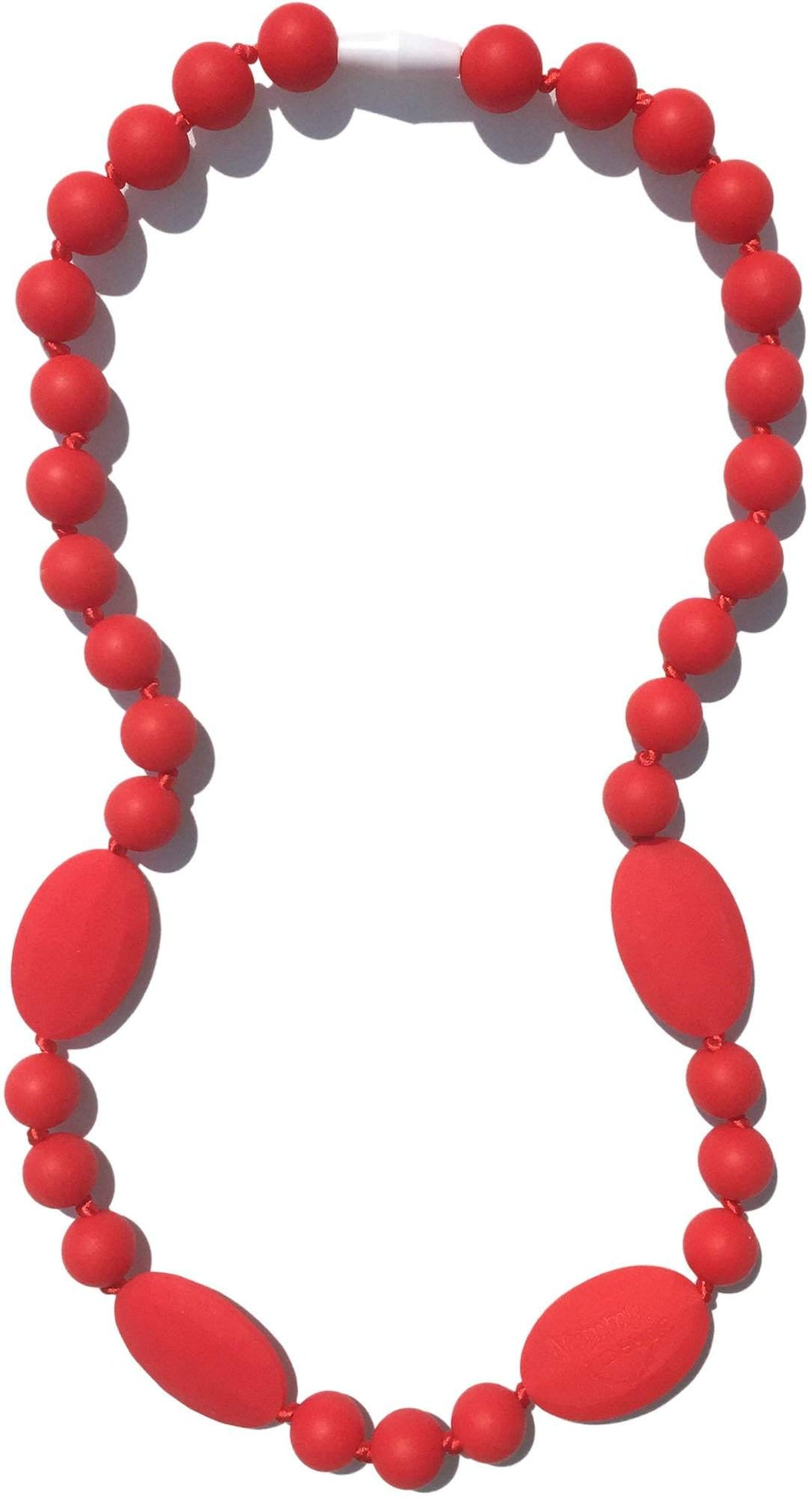 Nummy Beads Pink Jaden Silicone Teething Necklace
