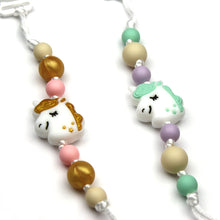 Gold & Green Unicorns Silicone Pacifier Clip 2pk