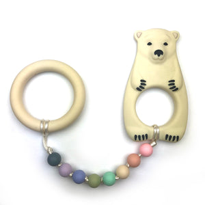 Polar Bear with Ring Baby Teether Toy