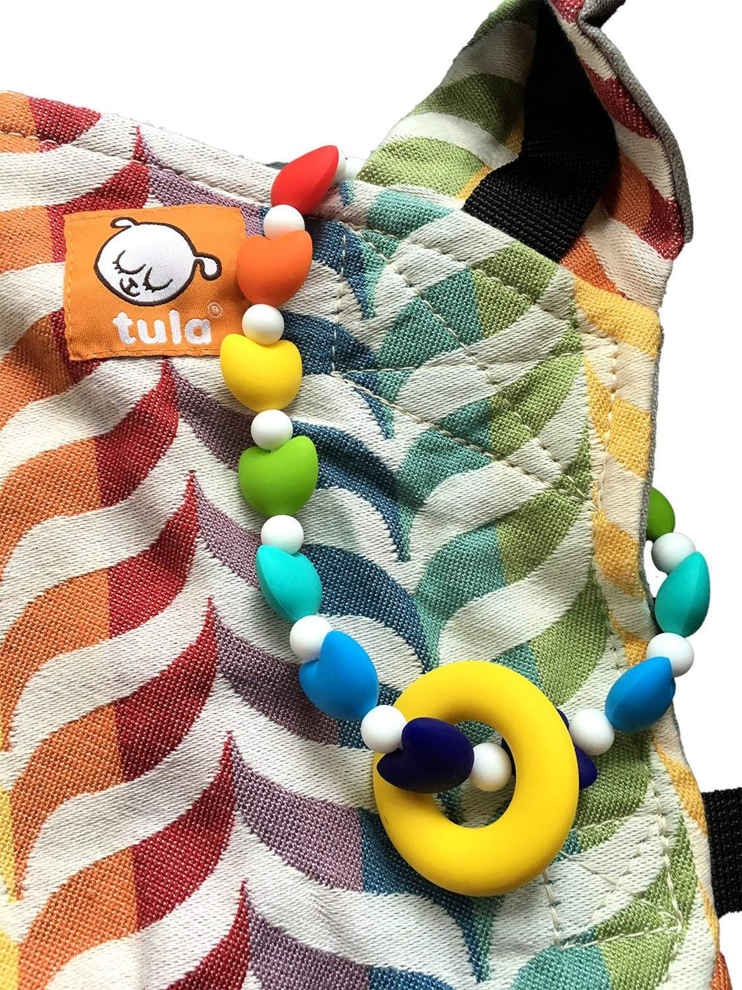 Rainbow Hearts Baby Carrier Teether Toy
