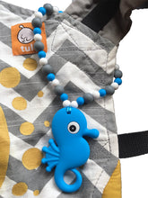 Blue Seahorse Baby Carrier Teether Toy