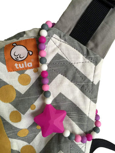 Pink Star Baby Carrier Teether Toy
