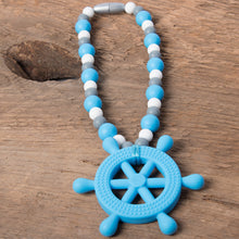 Blue Helm (Ship's Wheel) Baby Carrier Teether Toy