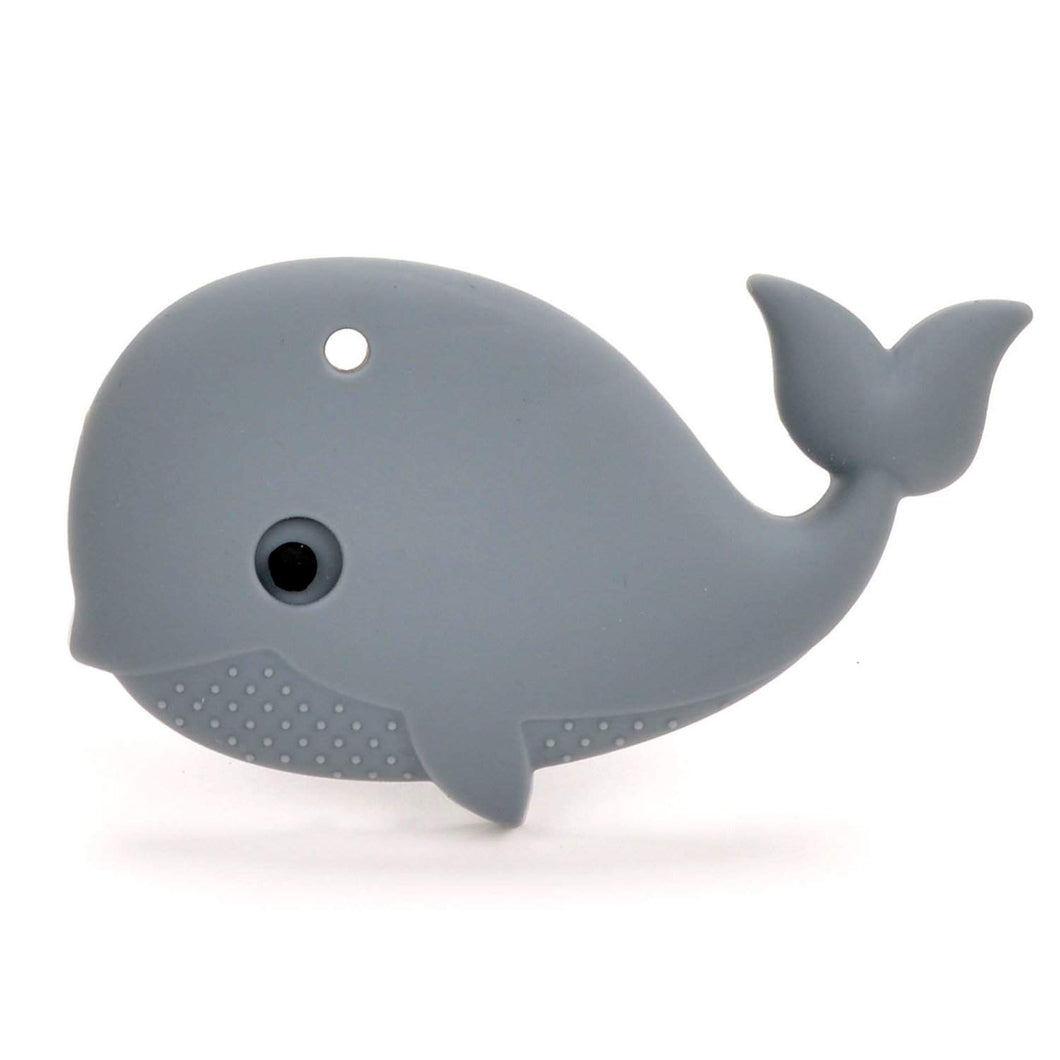 Nummy Beads Gray Whale Teether with Necklace Cord