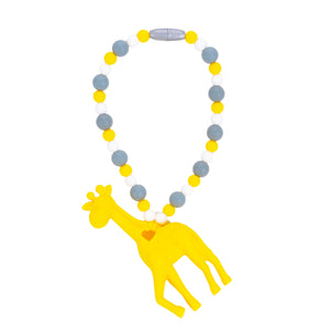 Yellow Giraffe Baby Carrier Teether Toy