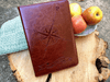 Compass Rose Journal, Writing Notebook, Personal Diary, Refillable
