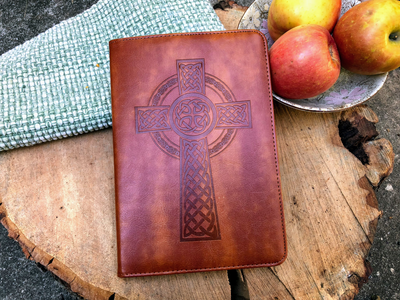 Celtic Cross Journal, Writing Notebook, Personal Diary, Refillable